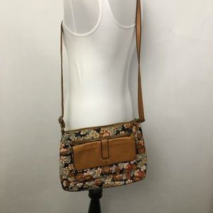 Fossil Kinley Floral Leather Crossbody Bag